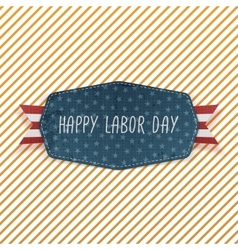 Happy Labor Day festive Emblem vector