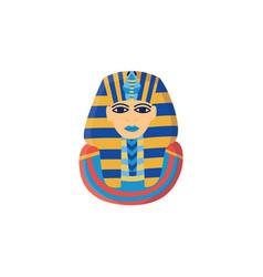 icon ancient golden head pharaoh egypt vector image