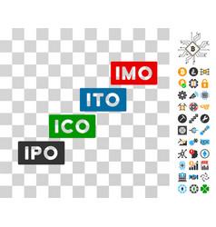 Imo levels icon with bonus vector