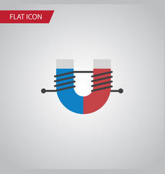 isolated magnet flat icon attractive force vector image