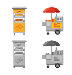Isolated object of market and exterior icon vector