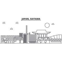 Japan saitama architecture line skyline vector