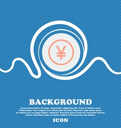 Japanese Yuan icon sign Blue and white abstract vector