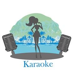 Karaoke night icon vector image