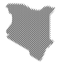 Kenya map population demographics vector