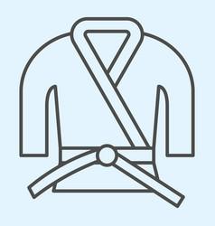 kimono thin line icon asian martial art costume vector image