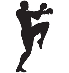 Knee strike outline vector