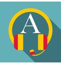 Listening icon flat style vector