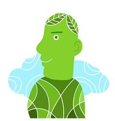 manGreenConcept vector image