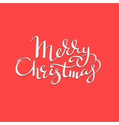Merry christmas lettering calligraphy vector