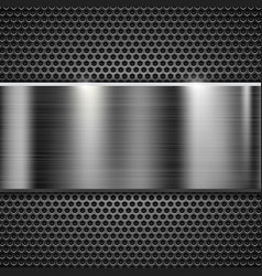 metal perforated texture with steel horizontal vector image