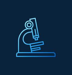 Microscope blue linear icon - science vector