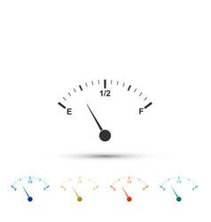 motor gas gauge icon isolated on white background vector image