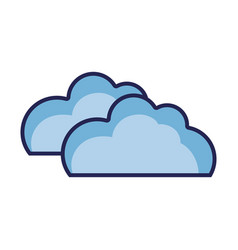 nature clouds weather in the sky icon vector image