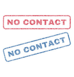 No contact textile stamps vector