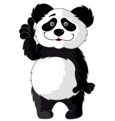 Panda Cartoon vector image