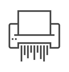 Paper shredder line icon vector