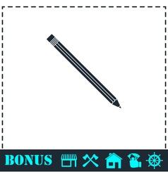 Pencil icon flat vector