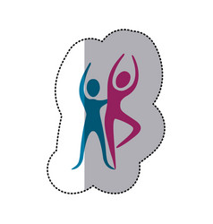 People couple dancing icon vector