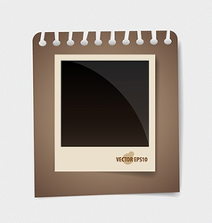 Photo frames on note papers vector