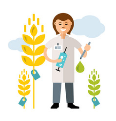 plant breeding genetic engineering vector image