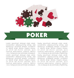 poker game promotional poster with colorful chips vector image