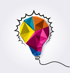polygonal light bulb vector image
