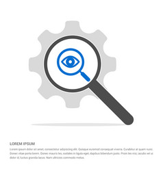 search icon search glass with gear symbol icon vector image