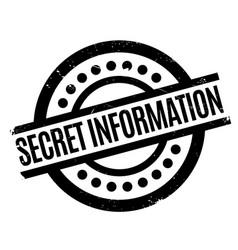 secret information rubber stamp vector image
