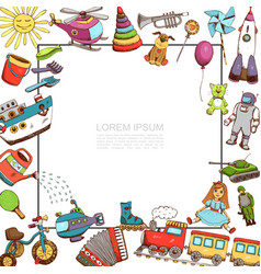 sketch toys template vector image