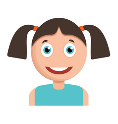 smiling girl icon cartoon style vector image
