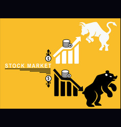 stock market ups and down vector image