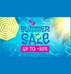summer sale background warm sea plumeria flower vector image