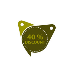 tag discount label 40 percent vector image