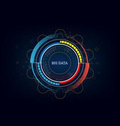 technology innovative big data concept background vector image