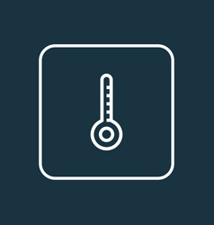 Thermometer outline symbol premium quality vector