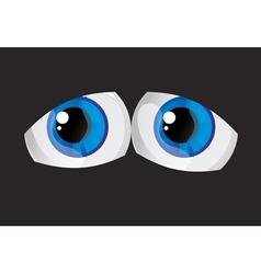 Tired bulging eyes vector