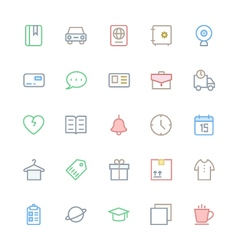 User Interface Colored Line Icons 17 vector image