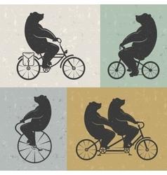 Vintage bear vector
