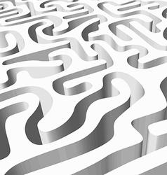 White smooth maze vector
