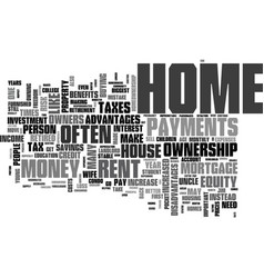 Why own a home instead of rent text word cloud vector