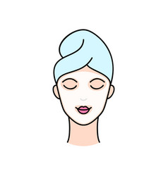 Woman in cosmetology mask vector