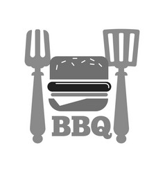 Barbecue or bbq grill burger or hot dog sausage vector
