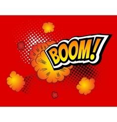 Boom Retro Comic Speech Bubble Cartoon vector image