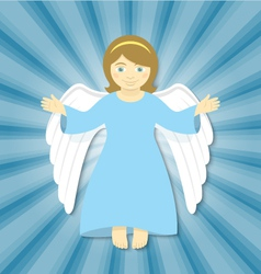 Flying Christmas Angel with Open Arms vector image vector image
