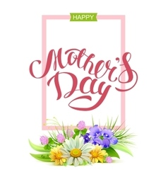 Happy mothers day Holiday for mom Greeting card vector image vector image
