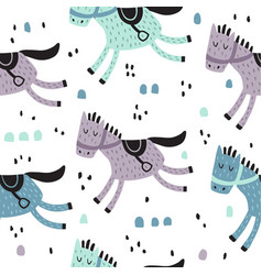 horse pattern vector image vector image