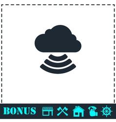 Wi-fi cloud icon flat vector