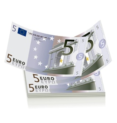 5 Euro bills vector image vector image