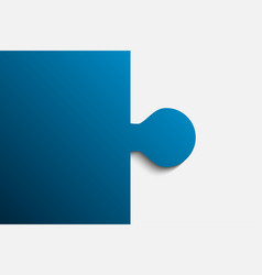 blue piece puzzle jigsaw 2 step vector image vector image
